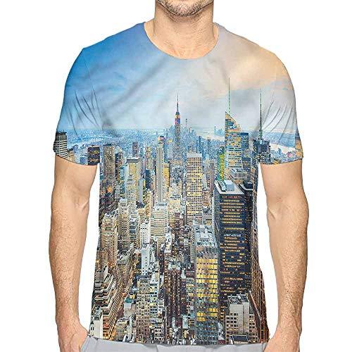 t Shirt Printer American,Aerial View New York City Junior t Shirt -