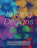 img - for Knitter's Graph Paper Journal 120 Knitting Design Pages 4:5 ratio: Asymmetric knitting graph paper notebook with blue floral knitting cover for knitting designs book / textbook / text book