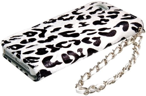 itronik Leopard Luxus HÜLLE TASCHE für APPLE IPHONE 4 4S DELUXE CASE HARDCASE ETUI HÜLLE SCHUTZHÜLLE - Weiss White