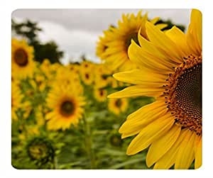 Custom Yellow Mellow Sunflower Gaming Mouse Pad - Durable Office Accessory and Gift