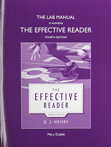 The Lab Manual for The Effective Reader