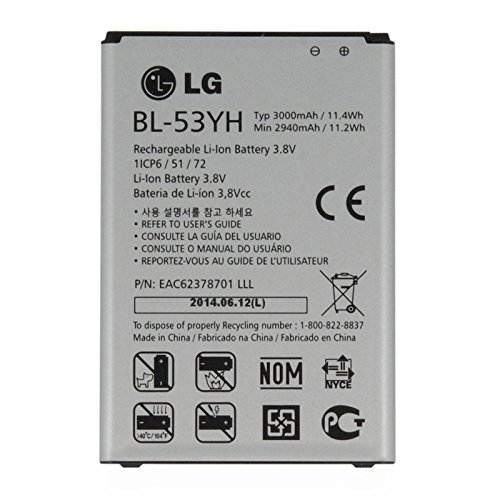LG BL-53YH Battery for G3 VS985 F400 D850 D855 3000mAh (Renewed)