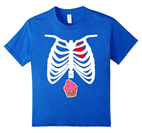 Cupcake Costumes For Kids Homemade (Kids Cute Cupcake In My Rib Cage For Horror Halloween Party Shirt 6 Royal Blue)
