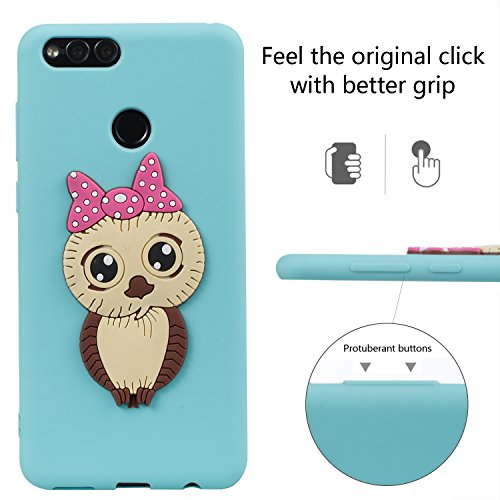 HD Cover Protector Flexible Honor idatog Soft Cute Skin Bumper Silicone For 3D Case Creative Cover Case Huawei Design Case Shockproof Back Gel 7X Free TPU Anti Screen Scratch Green Owl Cartoon Protective HxIqcCYd
