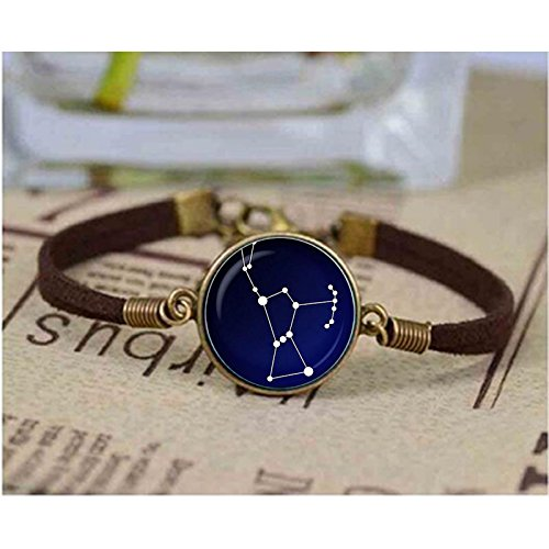 Orion Constellation Night Sky Mens Bracelet Stars Astronomy Space Jewelry Glass Cabochon Charms