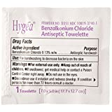 "Professional Disposables D35185 Hygea Benzalkonium Chloride Antiseptic Towelettes, 7.0"" X 5.5"" (Pack of 100)"