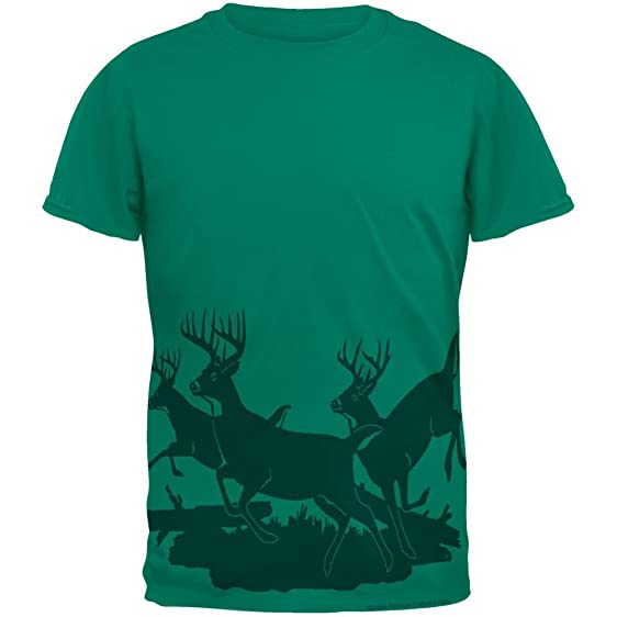 running deer silhouette mens t shirt jade dome sm