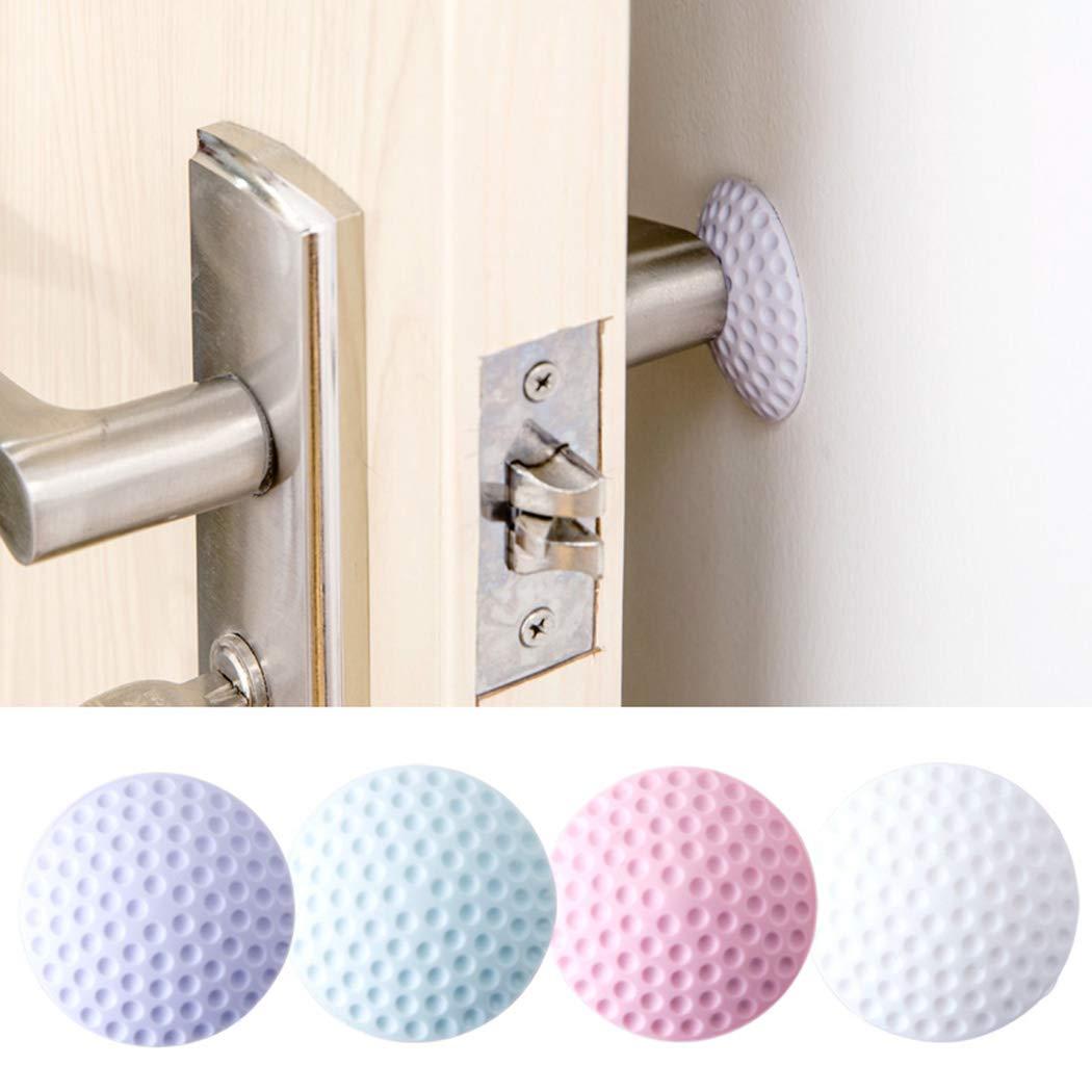 Jinguio Rubber Wall Protectors Self Adhesive Door Handle Bumper Guard Stopper Rubber Stop Personal Fans (4 Pack)