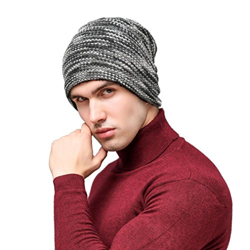 Hemlock Soft Beanie Hats Men, Women Knit Hats Keep Warm Hats Cap Winter Skating Hats (Grey)