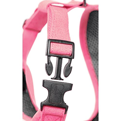 Gooby Choke Free Active X Head-in Synthetic Lambskin Soft Harness for Small Dogs, Pink, Small by Gooby (Image #2)