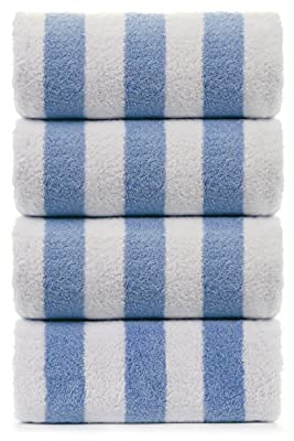 TURKUOISE TURKISH TOWEL Large Turkish Beach Towel, Pool Towel with Cabana Stripe, Eco Friendly, 100% Turkish Cotton (30x60 inches) by Turkuoise Towel