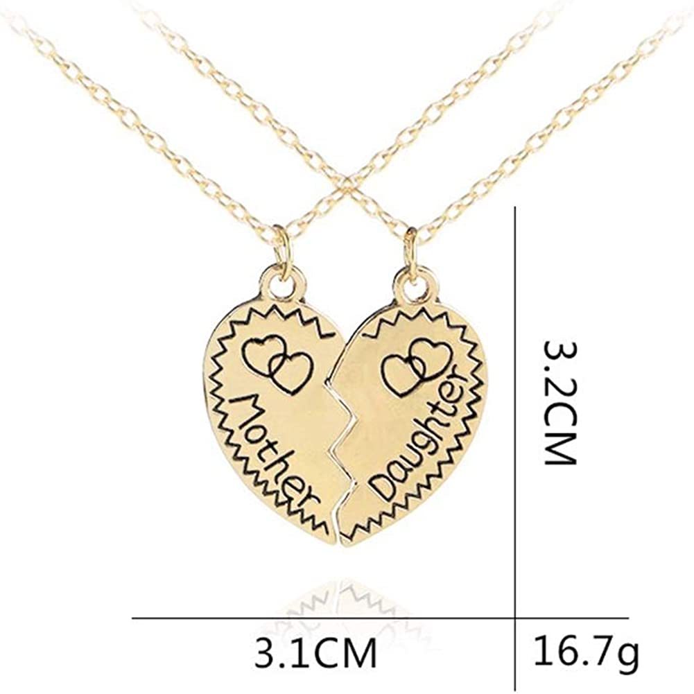 Charm Mom Mother/&Daughter Best Friend Mother/'s Day Heart Pendant Necklace Gift