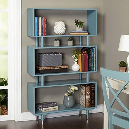 Simple Living Margo Bookshelf Media Storage Living Room (Living Room Media Storage Ottoman)