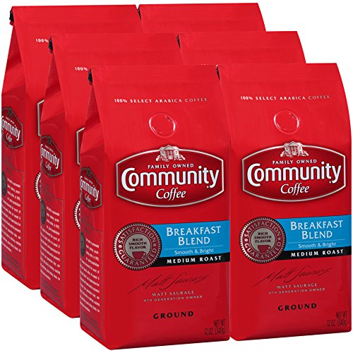 Ground Coffee Breakfast Blend 12 Ounces (Case of 6) ()