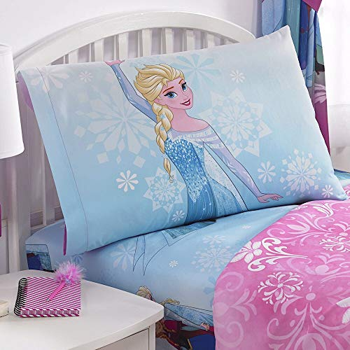Disney Frozen 'Nordic Frost' Microfiber Twin Sheet Set (Frozen Bed Twin Set)