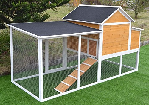Omitree 7.6u2032 Large Wood Chicken Coop Backyard ...