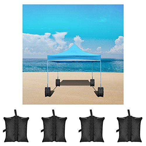 Neewer 4-Pack Weight Bags Leg Sandbags Weighted Base for Anchoring Canopy Tent Sunshade Outdoor Shelter Marquees Market Stalls, 20.4 x 14.9 x 13.3 inches (Black, Empty Bag) by Neewer