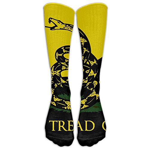 Dont Tread On Me Training Socks Crew Athletic Socks Long Sport Soccer Socks Breathable Knee High Sock Compression Socks For Men Women