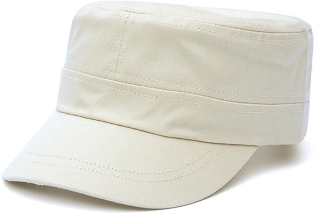 48a2e435074 Amazon.com  Fashionable Unisex Flat Cap Top Peaked Baseball Twill Army  Millitary Corps Hat Visor (Beige)  Clothing