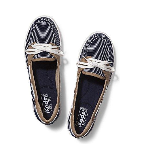 Canvas Keds Shoes - Keds Women's Glimmer Nautical Stripe Fashion Sneaker, Navy, 8.5 M US