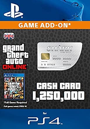 Grand Theft Auto Online | GTA V Great White Shark Cash Card