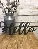 Hello Wood Word-Hello-Hello Sign-Hello Cutout-Cursive Hello