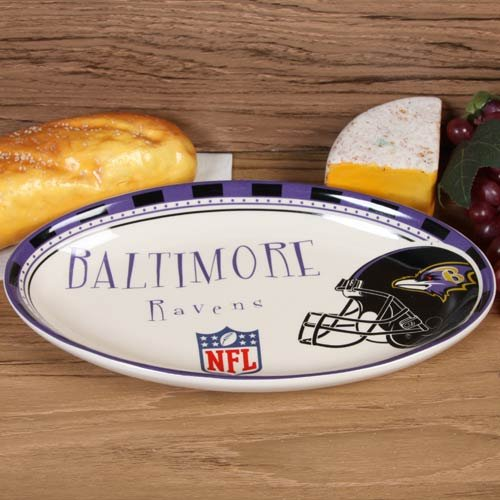 NFL Baltimore Ravens Game Day Oval Ceramic Platter