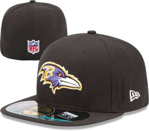 fc3baccdf17 Amazon.com   NFL Mens Baltimore Ravens On Field 5950 Game Cap By New Era    Sports Fan Baseball Caps   Clothing