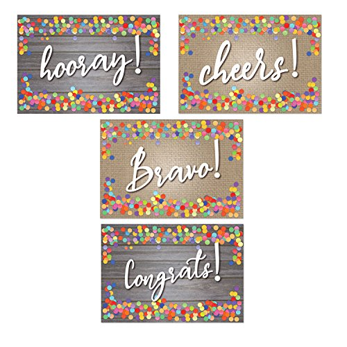 Assorted Congratulation Postcards - Hooray, Cheers, Bravo, Congrats - 4'' x 6'' Postcards by Stonehouse Collection