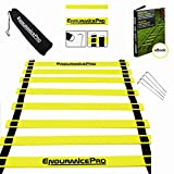 Training Ladder Ideal Workout Ladder With Drills eBook, Bag, Pegs - Premium Agility Ladder By Endurance Pro