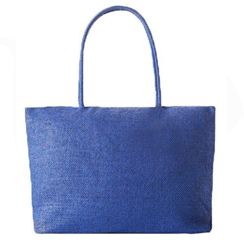 Abuyall femmes raphia sac de paille solide armure ¨¦t¨¦ plage occasionnels grand sac ¨¤ main ¨¦paule ensemble/unique Pt17