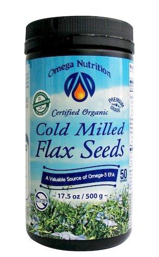 Omega Nutrition graines de lin broyées à froid, 17.5 onces