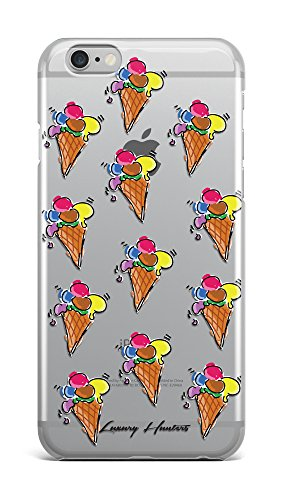 Ice cream sweet cold summer colourful plastic transparent see through case / cover for Apple Iphone design made by LuxuryHunters ® (Iphone 7)