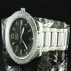 Mens KC Techno Com Joe Rodeo Diamond Master Classy White Finish Diamond Watch
