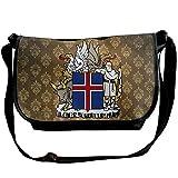 Lov6eoorheeb Unisex Coat Of Arms Of Iceland Wide Diagonal Shoulder Bag Adjustable Shoulder Tote Bag Single Shoulder Backpack For Work,School,Daily