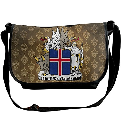 Lov6eoorheeb Unisex Coat Of Arms Of Iceland Wide Diagonal Shoulder Bag Adjustable Shoulder Tote Bag Single Shoulder Backpack For Work,School,Daily by Lov6eoorheeb (Image #5)
