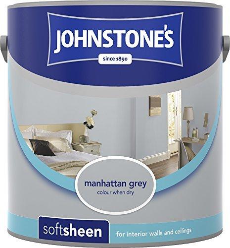 Soft Emulsion Sheen (Johnstone's 307090 Vinyl Soft Sheen Emulsion - Manhattan Grey,2.5 by Johnstone's)