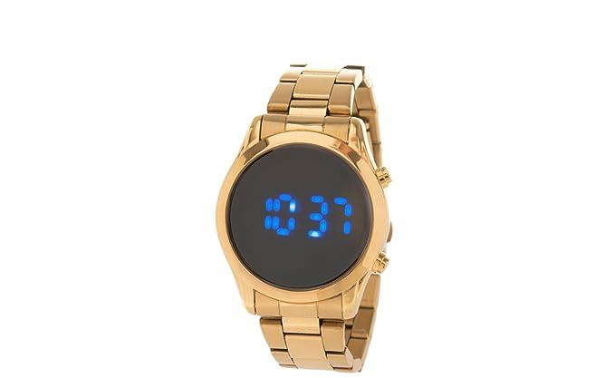 Parfois - Reloj Digital - Mujeres - Tallas M - Dorado: Amazon.es: Relojes