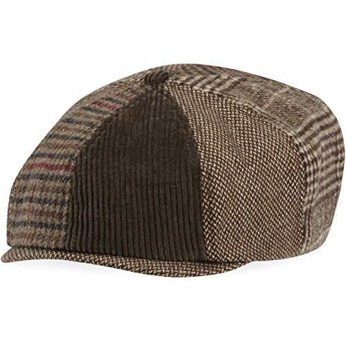 Life is good Baker's Cap Mixed Patterns Hat, Rich Brown, Small/Medium