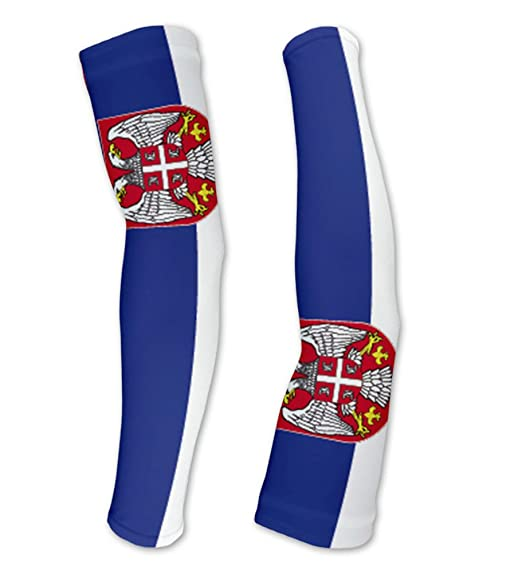 ScudoPro Serbia Flag Manguitos de Compresion con Proteccion UV ...