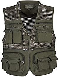 baec0478222f Men s Summer Outdoor Work Safari Fishing Travel Vest with Pockets