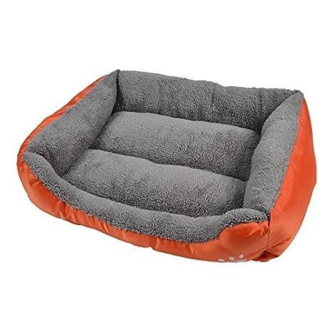 Amazon.com : eDealMax Cojín de la pata Impreso perrito del Animal doméstico del gato cesta Doghole Mat perrera de la casa de Orange cama del perro : Pet ...