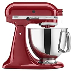 Choose from over 20 different colors of the KitchenAid Artisan Series Tilt-Head Stand Mixer for the one that perfectly matches your kitchen design or personality. Easily make your favorite cakes and multiple batches of cookie dough with the 5...