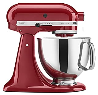 KitchenAid KSM150PSER Artisan Tilt-Head Stand Mixer with Pouring Shield, 5-Quart, Empire Red (B00005UP2P) | Amazon Products