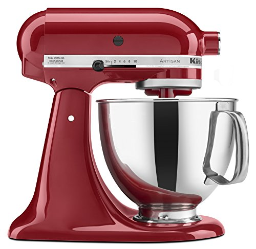 KitchenAid KSM150PSER Artisan Tilt-Head Stand Mixer with Pouring Shield, 5-Quart, Empire Red -