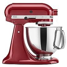 KitchenAid KSM150PSER Artisan 5-Quart Stand Mixer, Empire Red