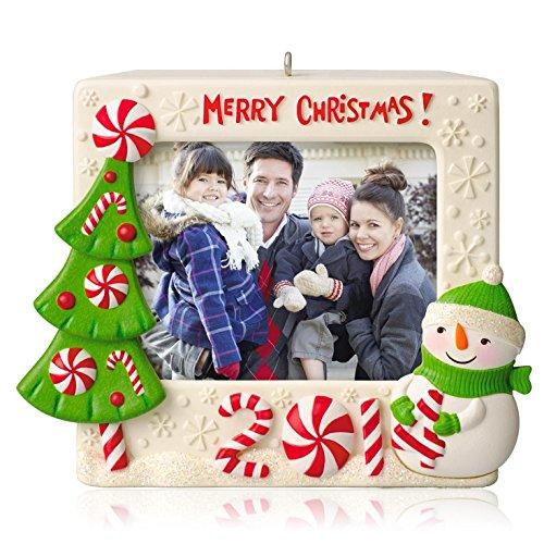 amazoncom merry christmas recordable photo holder 2014 hallmark keepsake ornament home kitchen