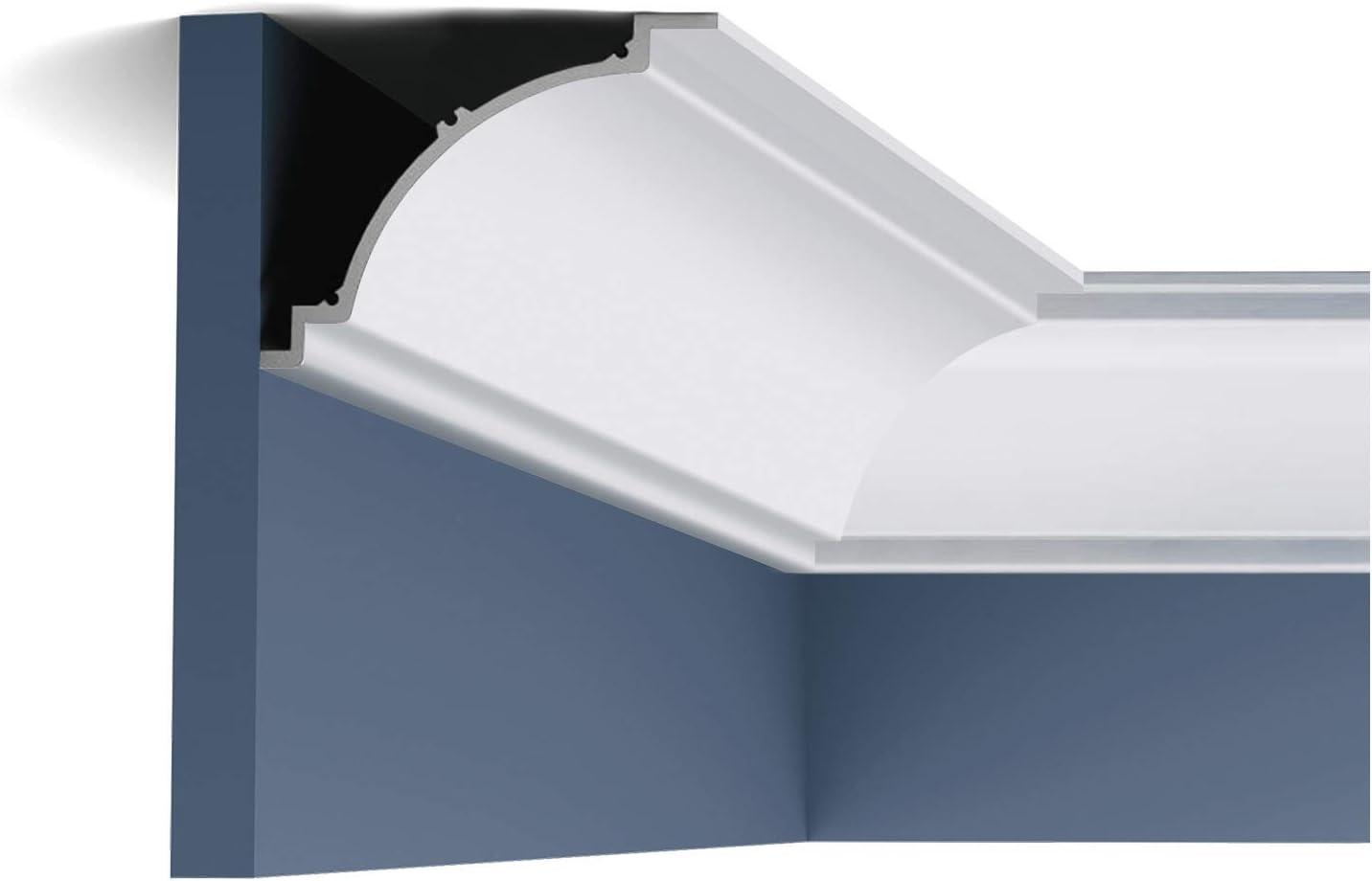 Cornice Moulding Orac Decor C820 XTERIO Decorative Moulding Timeless Classic White 2.44m