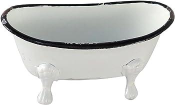Foreside Home & Garden Foreside Mini Enamel Bathtub Soap Dish