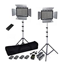 GTAPhotoStudio Yongnuo YN-600 Video Light Kit with batteries and charger